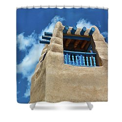 Taos Blue Shower Curtain