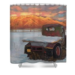 Taos Truck In The Snow Shower Curtain