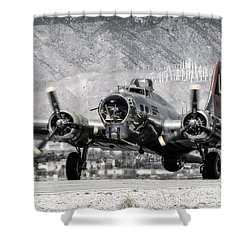 B-17 Bomber Madras Maiden  Shower Curtain