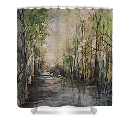 Bayou Liberty Shower Curtain by Robin Miller-Bookhout