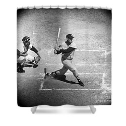 Ted Williams (1918-2002) Shower Curtain by Granger