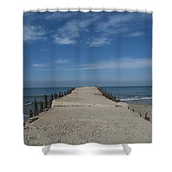 Tel Aviv Old Port 3 Shower Curtain