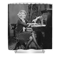 Telephone Exchange, 1920s Shower Curtain by Granger