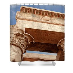 Shower Curtain featuring the photograph Temple Of Kom Ombo by Silvia Bruno