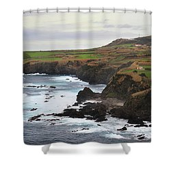 Shower Curtain featuring the photograph Terceira Coastline by Kelly Hazel