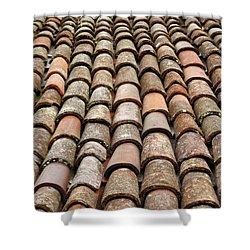 Terra Cotta Roof Tiles Shower Curtain by Gaspar Avila