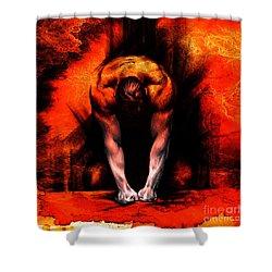 Textured Anger Shower Curtain