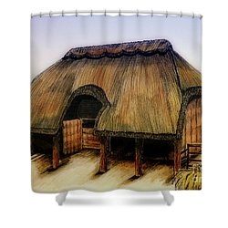 Thatched Barn Of Old Shower Curtain