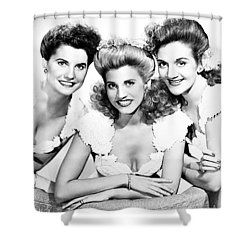 The Andrews Sisters Shower Curtain by Granger