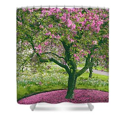 The Apple Doesn't Fall Far From The Tree Shower Curtain by Jessica Jenney