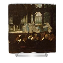 Shower Curtain featuring the painting The Ballet From Robert Le Diable by Edgar Degas