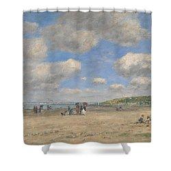 The Beach At Tourgeville Les Sablons Shower Curtain