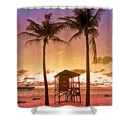 The Beach Shower Curtain by Debra and Dave Vanderlaan