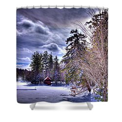 Shower Curtain featuring the photograph The Beaver Brook Boathouse by David Patterson