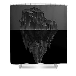 The Black Iceberg Shower Curtain by Serge Averbukh