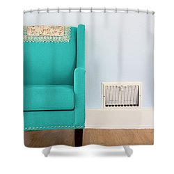 The Blue Chair Shower Curtain