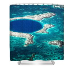 The Blue Hole Shower Curtain