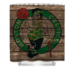 The Boston Celtics 1e Shower Curtain by Brian Reaves
