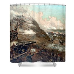 The Capture Of Fort Fisher Shower Curtain by War Is Hell Store