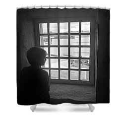 Shower Curtain featuring the photograph The Contrast Of War by Kelly Hazel