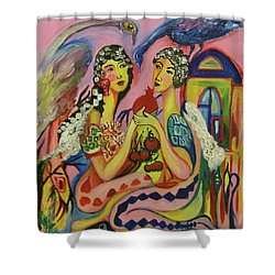 Couple Shower Curtain by Rita Fetisov