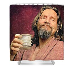 The Dude Shower Curtain by Taylan Apukovska