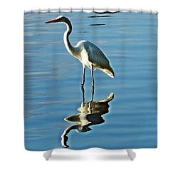 The Egret Shower Curtain