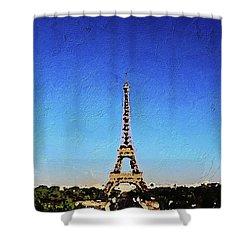 The Eiffel Tower Shower Curtain by PixBreak Art