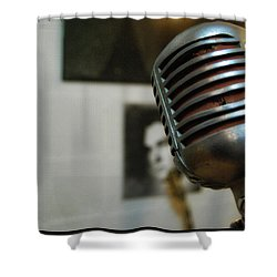 The Elvis Mic Shower Curtain by JAMART Photography