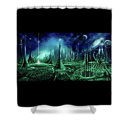 The Enneanoveum Shower Curtain by James Christopher Hill