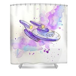 The Enterprise Shower Curtain