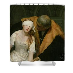 The Execution Of Lady Jane Grey Shower Curtain by Hippolyte Delaroche
