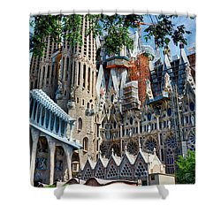 The Expiatory Temple Of The Holy Family Shower Curtain
