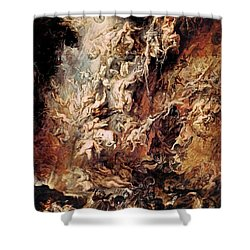 Shower Curtain featuring the painting The Fall Of The Damned by Peter Paul Rubens