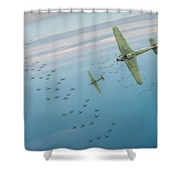 Shower Curtain featuring the photograph The Few by Gary Eason