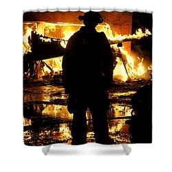 The Fireman Shower Curtain