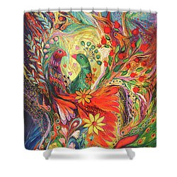 The Flowers And Fruits Shower Curtain by Elena Kotliarker
