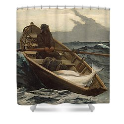 Shower Curtain featuring the painting The Fog Warning - 1885 by Winslow Homer