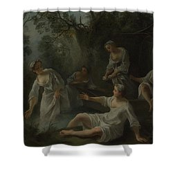 The Four Times Of Day   Evening Shower Curtain