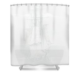 The Ghost Ship Shower Curtain by David Patterson