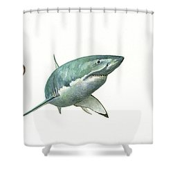 The Great White Shark And The Octopus Shower Curtain