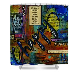 The Happy Artist Shower Curtain by Angela L Walker