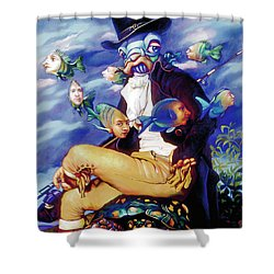 The Incompleat Angler Shower Curtain by Patrick Anthony Pierson
