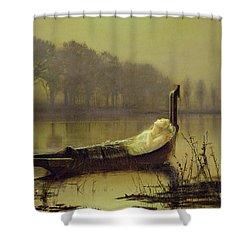 The Lady Of Shalott Shower Curtain by John Atkinson Grimshaw