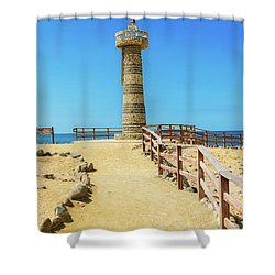 The Lighthouse In Salinas, Ecuador Shower Curtain