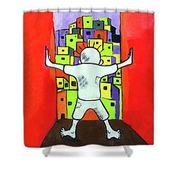 Shower Curtain featuring the photograph The Man by Munir Alawi