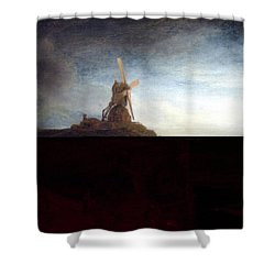 The Mill  Shower Curtain by Rembrandt van Rijn