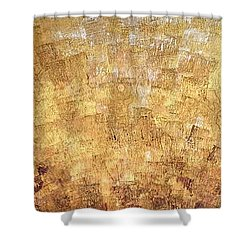 Shower Curtain featuring the painting The Moment 2  by Shabnam Nassir