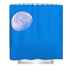The #moon This #morning. #bluesky Shower Curtain