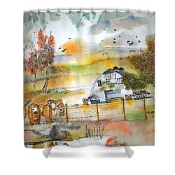 The Moose Is Loose  Album Shower Curtain